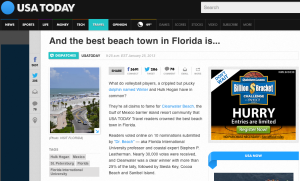 Dr. Beach worked with Balance Marketing to get Florida's East Coast Beaches on his list